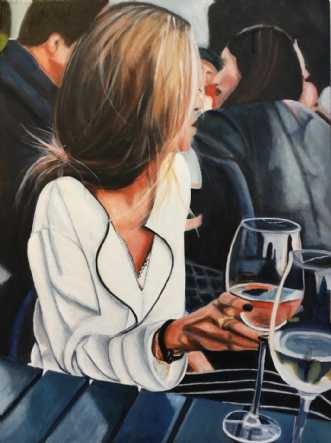 Rosetid by Sanne Rasmussen | maleri