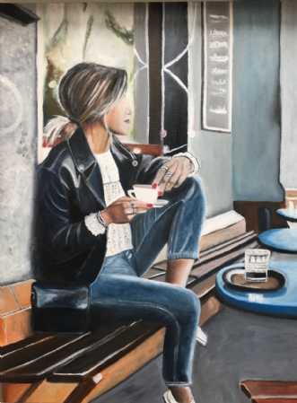 Cafeliv IV by Sanne Rasmussen | maleri