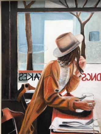 Cafeliv V by Sanne Rasmussen | maleri