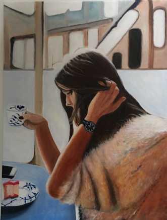 Cafeliv VI by Sanne Rasmussen | maleri