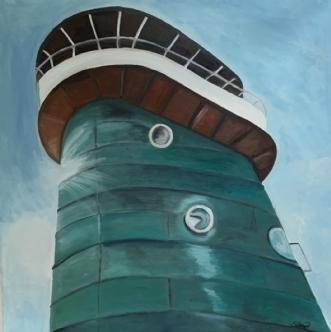 Brotårnet på Knippe.. by Sanne Rasmussen | maleri