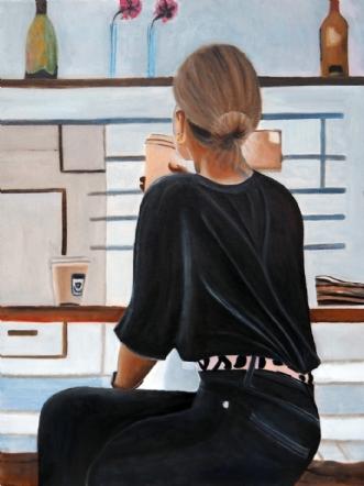 Cafeliv VIII by Sanne Rasmussen | maleri