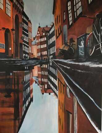 Magstræde by Sanne Rasmussen | maleri