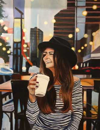 CafelivVII by Sanne Rasmussen | maleri