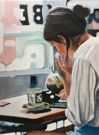 En dejlig kop te by Sanne Rasmussen | maleri