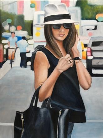 Min borsalino by Sanne Rasmussen | maleri