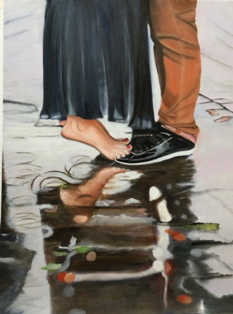 Hvad mon de laver by Sanne Rasmussen | maleri