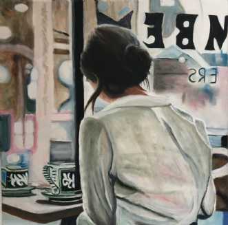 Cafeliv I by Sanne Rasmussen | maleri