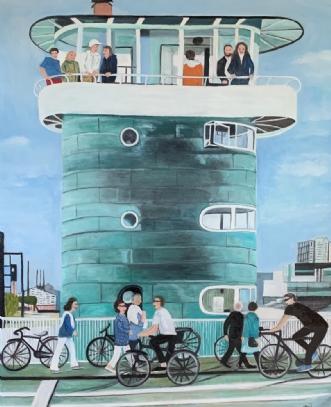 Liv på broen by Sanne Rasmussen | maleri