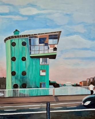 Eftermiddag  på Lan.. by Sanne Rasmussen | maleri