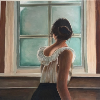 kigger ud mod verde.. by Sanne Rasmussen | maleri