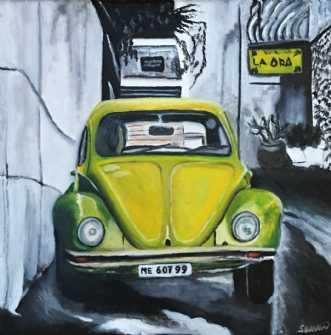 Lime bobbel by Sanne Rasmussen | maleri