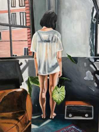 Morgensol by Sanne Rasmussen | maleri