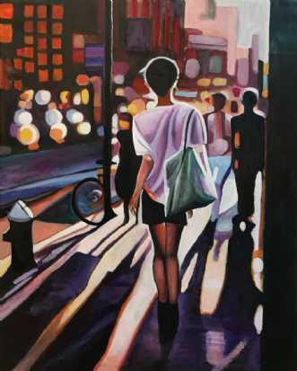 På vej hjem by Sanne Rasmussen | maleri