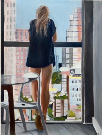 Min skyline by Sanne Rasmussen | maleri