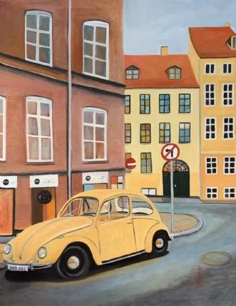 Bobbel i København by Sanne Rasmussen | maleri