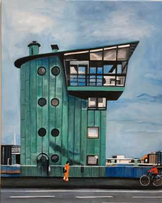 På vej hjem over La.. by Sanne Rasmussen | maleri