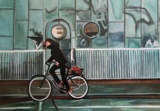 På vejer over Lange.. by Sanne Rasmussen | maleri