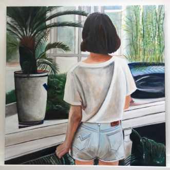 I mit orangeri by Sanne Rasmussen | maleri