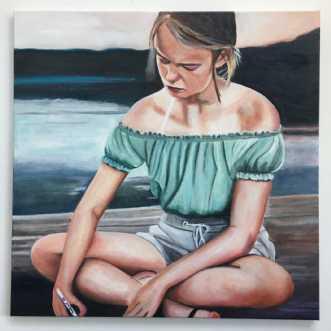 Savner dig by Sanne Rasmussen | maleri