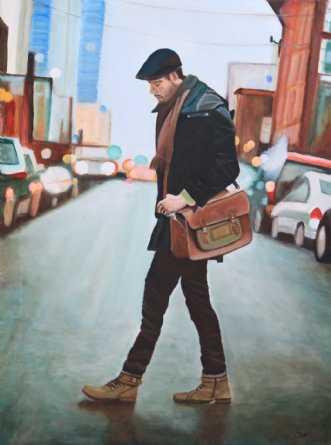 På vej by Sanne Rasmussen | maleri