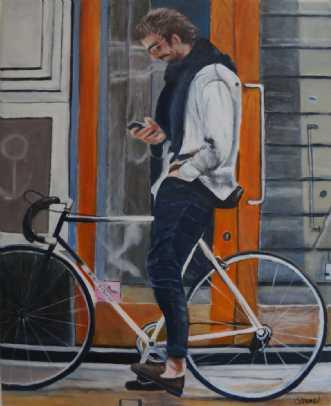Hvornår kommer du by Sanne Rasmussen | maleri
