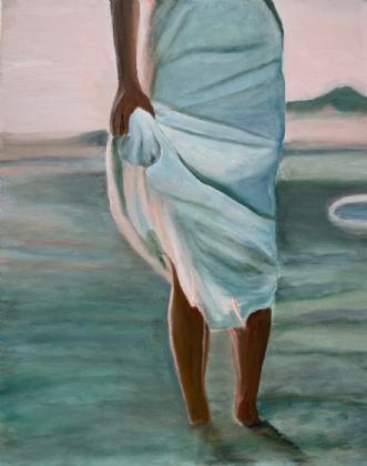 Pige på strand IIIafSanne Rasmussen