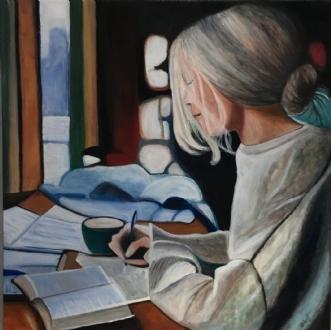 Eksamenstid by Sanne Rasmussen | maleri