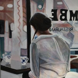 Cafeliv med Royal C.. by Sanne Rasmussen | maleri