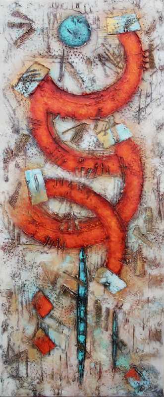 Uden titel by Lykke Mørch | maleri