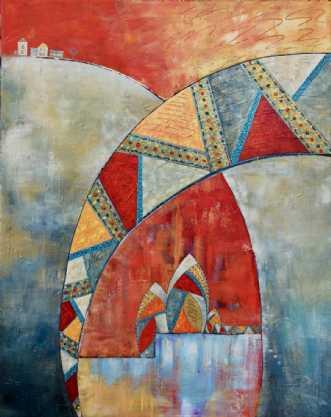 Rejsen by Lykke Mørch | maleri