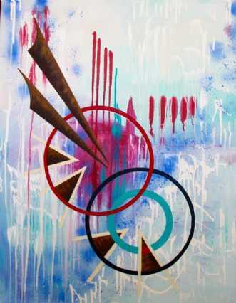 Native american mot.. by Lykke Mørch   maleri