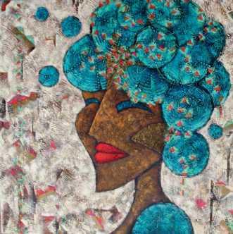 Blue Woman by Lykke Mørch | maleri