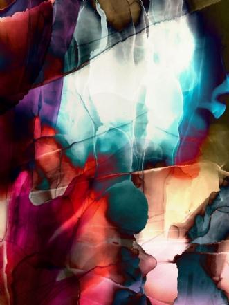 Crossing of light by Jeanette Innala | maleri