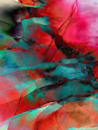 Flaming Crimson by Jeanette Innala | tegning