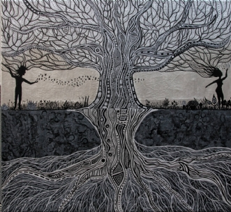 Yggdrasil  by Claudia Pavia | maleri
