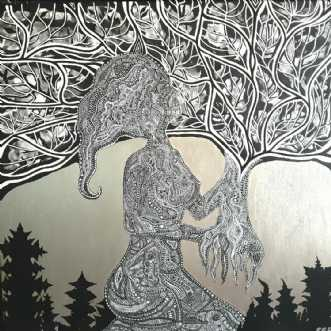 Woman becoming tree