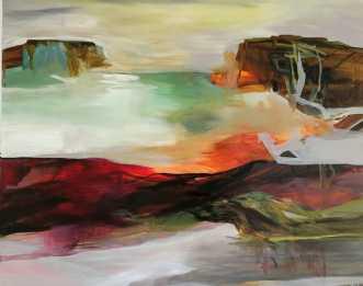 Nordisk landskab by Kirsten Overgaard | maleri