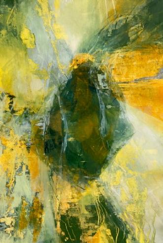 Grøn meditation by Else Sofie Munkholm Bager | tegning