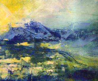 Abstrakt landskab 2 by Else Sofie Munkholm Bager | tegning