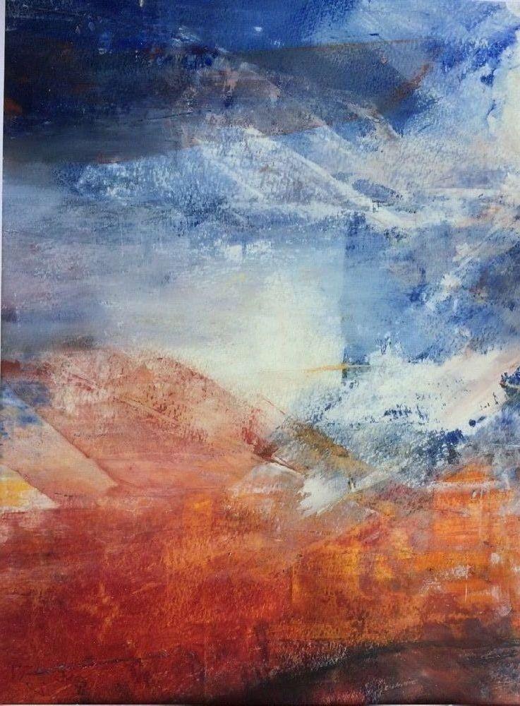 Abstrakt landskab by Else Sofie Munkholm Bager | tegning