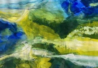 Grøn harmoni by Else Sofie Munkholm Bager | tegning