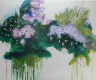 Dusk at the edge of.. by Mia Glarborg   maleri