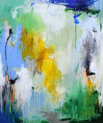 Fuglefløjt og haven.. by Bettina Holst | maleri