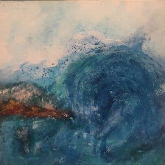 Sea side by Lone Lopez Andersen   maleri