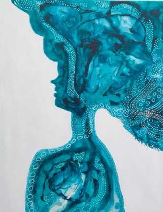 Percian princess Bl.. by Lone Lopez Andersen | maleri