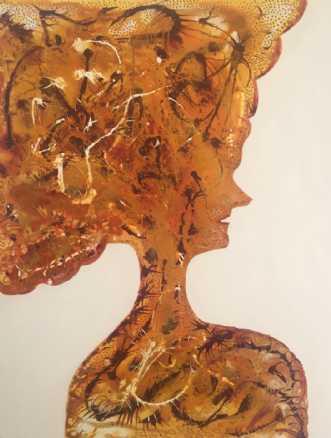 Persian princess golden | Maleri