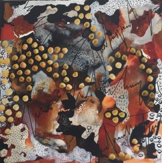 Space Alfabeat by Lone Lopez Andersen | maleri