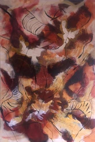 Storm by Lone Lopez Andersen | maleri