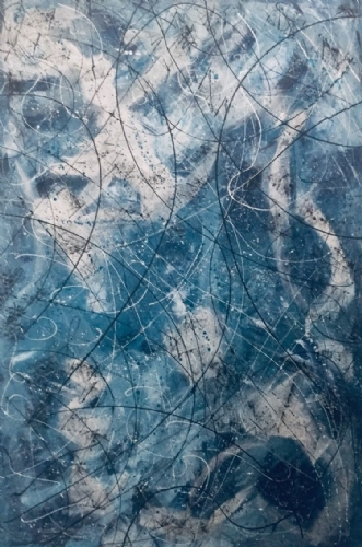Space Storm by Lone Lopez Andersen | maleri